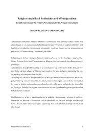 Rådgiverinhabilitet i forbindelse med offentlige udbud