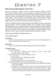 Referat af generalforsamling d. - Distrikt 7