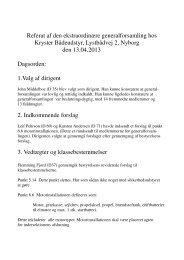 Referat fra ekstraordinær generalforsamling i Nyborg april 2013 - Ylva