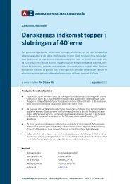 Danskernes indkomst topper i slutningen af 40'erne