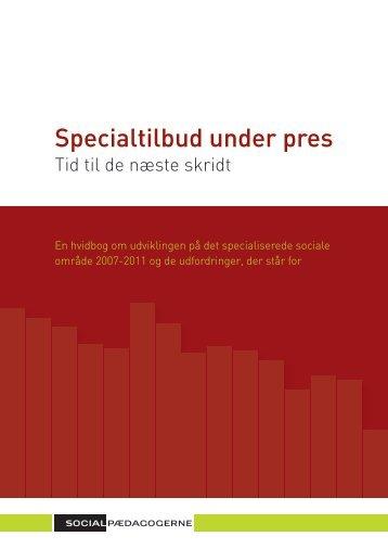 Specialtilbud under pres - Bille Sterll - Journalistik med mere