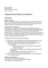 Afrapportering vedr. logistik og servicefunktioner - Region Nordjylland