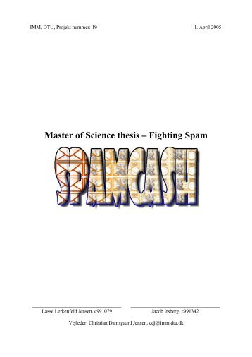 Master of Science thesis Fighting Spam