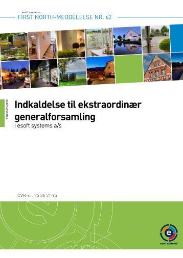 Indkaldelse til ekstraordinær generalforsamling - Scandinavian ...