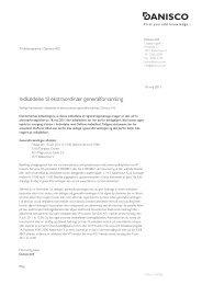 Indkaldelse til ekstraordinær generalforsamling - Danisco