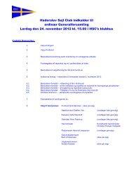 Generalforsamling Endelig Indkaldelse 2012 - Haderslev Sejl-Club