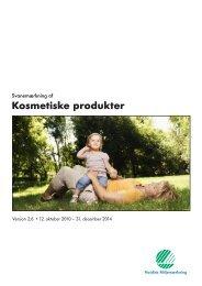 Kosmetiske produkter - Svanen.se