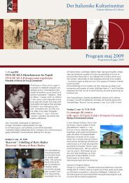 Program maj 2009 Det Italienske Kulturinstitut