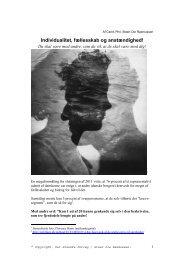 individualitet, fællesskab og anstændighed, 2012 - Arbejdsforskning