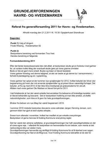2011 - Grundejerforeningen Havre- Hvedemarken