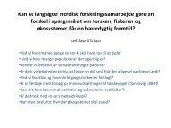 Genetic analyses of Atlantic cod from Skagerrak