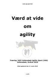 Værd at vide om agility - BCK Vallensbæk Agility Sport