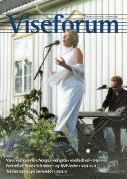 Viser ved kanalen: Norges «lengste» visefestival • side 4–8 ...