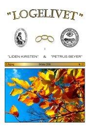 """LOGELIVET """" - Loge nr. 41 Petrus Beyer, 7700 Thisted"""