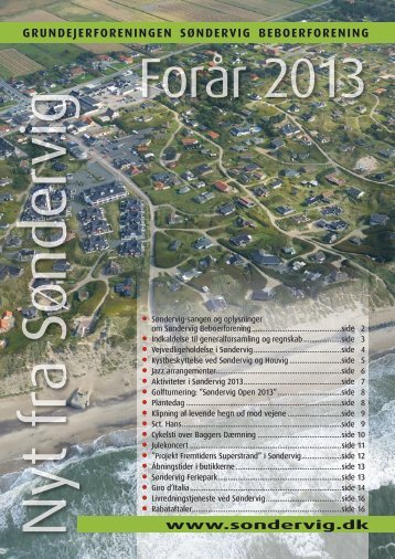 Nyt fra Søndervig - foråret 2013