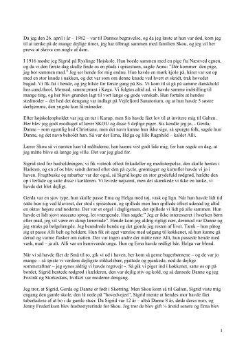 Dagny Christensens erindringer om familien Skou og andre