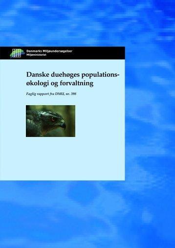 Danske duehøges populations- økologi og forvaltning