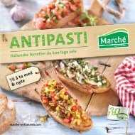ANTIPASTI - Marché Restaurants