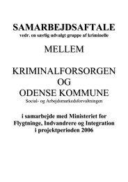 samarbejdsaftale mellem kriminalforsorgen og odense kommune