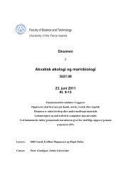 Akvatisk økologi og marinbiologi