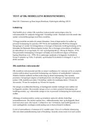 test af dk-modellens rodzonemodul - National Vandressource Model