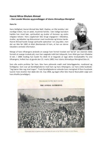 Hazrat Mirza Ghulam Ahmad - Muslimer For Fred