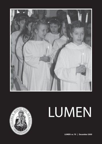 1 LUMEN nr. 70 | December 2009 - Sankt Mariæ Kirke