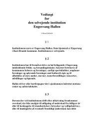 Vedtægt for den selvejende institution Engesvang Hallen