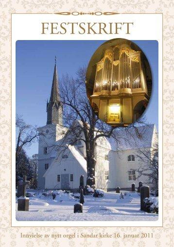 Sandarkirke orgelfestskrift - Sandefjord kirkelige fellesråd