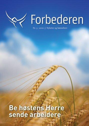 Be høstens Herre sende arbeidere - Bønnetjenesten for Norge