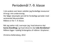 Periodemål 7.- 9. klasse