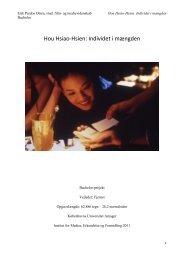 Hou Hsiao-Hsien: Individet i mængden - Filmtrend.dk