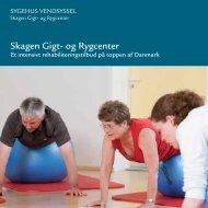 Brochure Skagen Gigt- og Rygcenter - Sygehus Vendsyssel