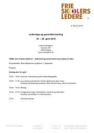 Lederdage og generalforsamling 18. – 20. april 2012 - Frie Skolers ...