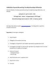 Indkaldelse til generalforsamling i Grundejerforeningen Kålmarken