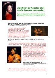 Musikken og kunsten skal spejle levende ... - Elisabeth Hanke