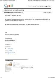 Gmail - Indkaldelse til generalforsamling - Søhøjlandet Golf Klub