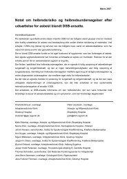 Den arbejdsmedicinske rapport - DSB