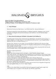 Referat af ordinær generalforsamling 21. maj 2011 - Halsnæs Bryghus