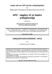 APV - nøglen til et bedre arbejdsmiljø - HK