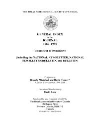 General Index - The Royal Astronomical Society of Canada