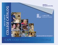 Online Catalog - Cape Cod Community College