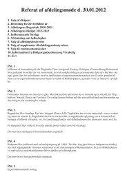 Referat af afdelingsmøde d. 30.01.2012 - Vivabolig