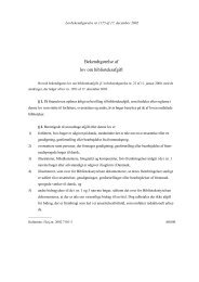 Bekendtgørelse af lov om biblioteksafgift - Kulturstyrelsen