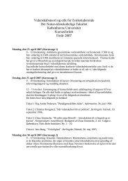 Kursusforløb - Niels Bohr Institutet