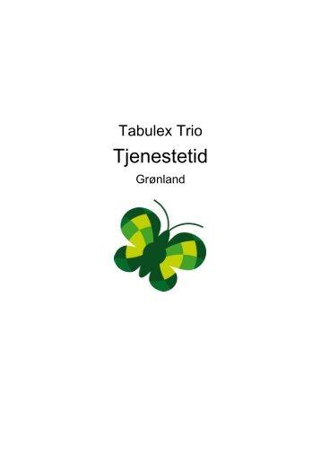 Trio Tjenestetid - Tabulex