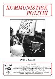 Kommunistisk Politik 14, 2004