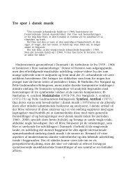 Tre spor i dansk musik [v6..cwk - Niels Rosing-Schow
