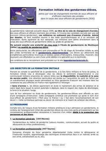 formation initiale des gendarmes lves gendarmerie