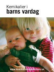 Kemikalier i barns vardag - Kemikalieinspektionen